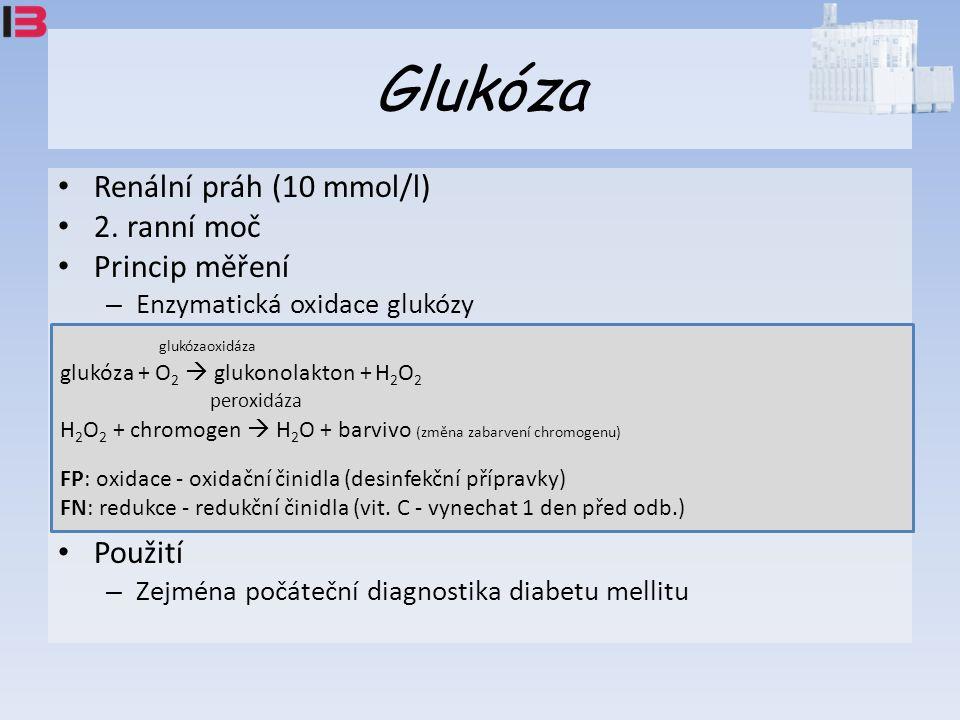 Glukóza Renální práh (10 mmol/l) 2.