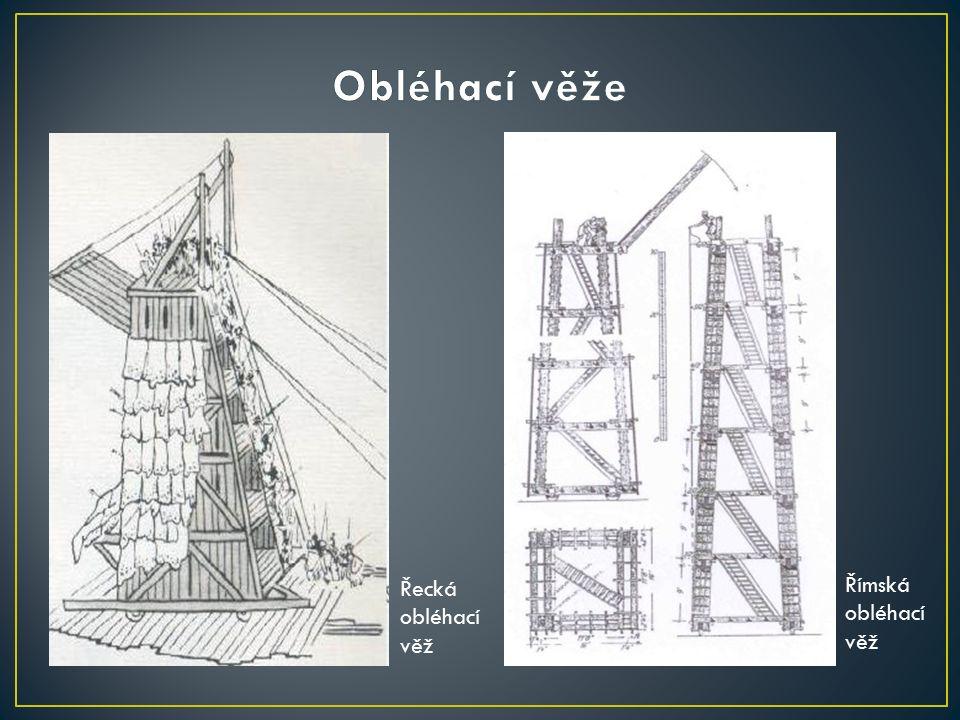 Řecká obléhací věž Římská obléhací věž