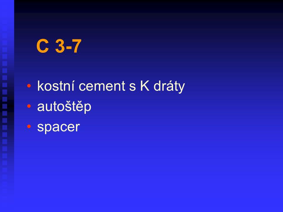 kostní cement s K dráty autoštěp spacer C 3-7