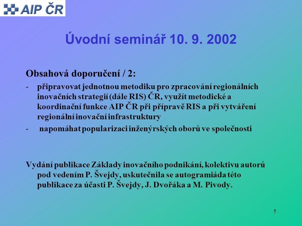5 Úvodní seminář 10. 9.