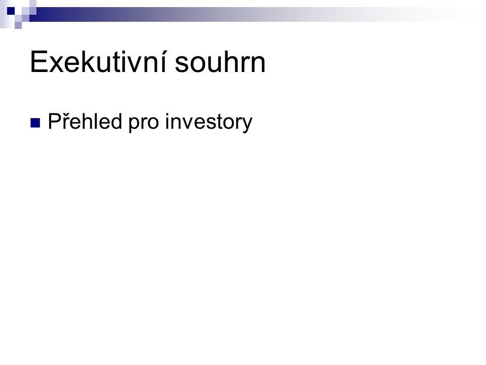 Exekutivní souhrn Přehled pro investory