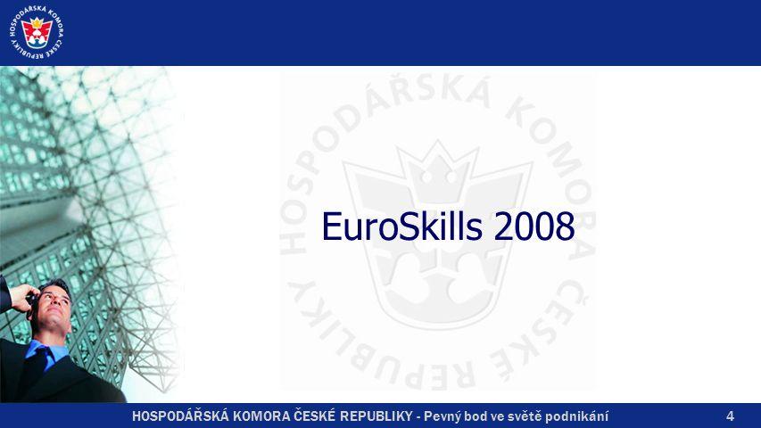 HOSPODÁŘSKÁ KOMORA ČESKÉ REPUBLIKY - Pevný bod ve světě podnikání Hodnocení ČR Bronzová medaile v oboru Móda 4.