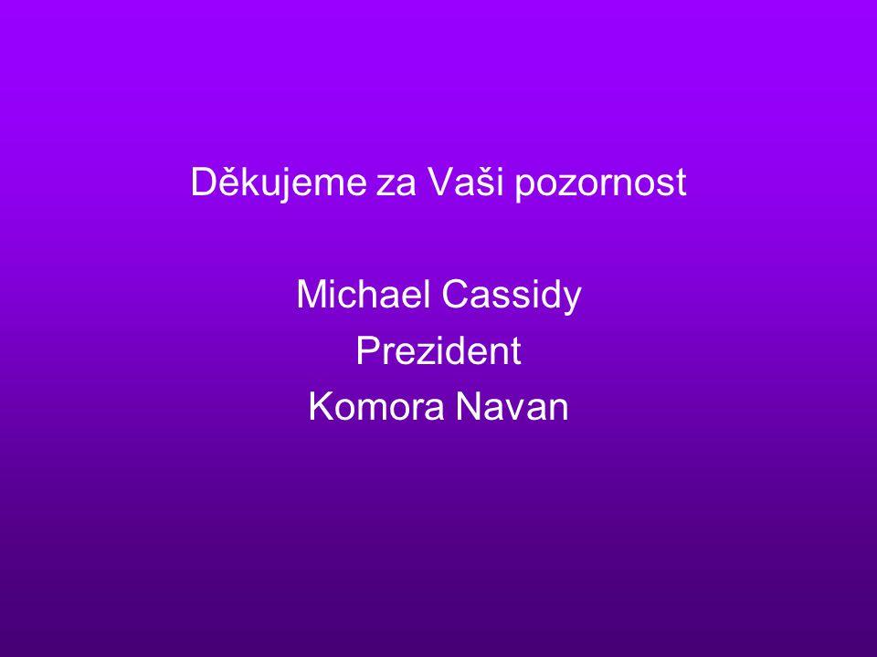Děkujeme za Vaši pozornost Michael Cassidy Prezident Komora Navan