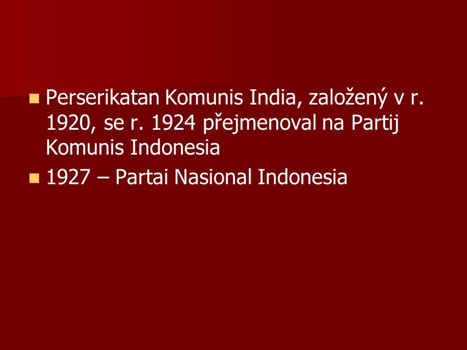 Perserikatan Komunis India, založený v r. 1920, se r.