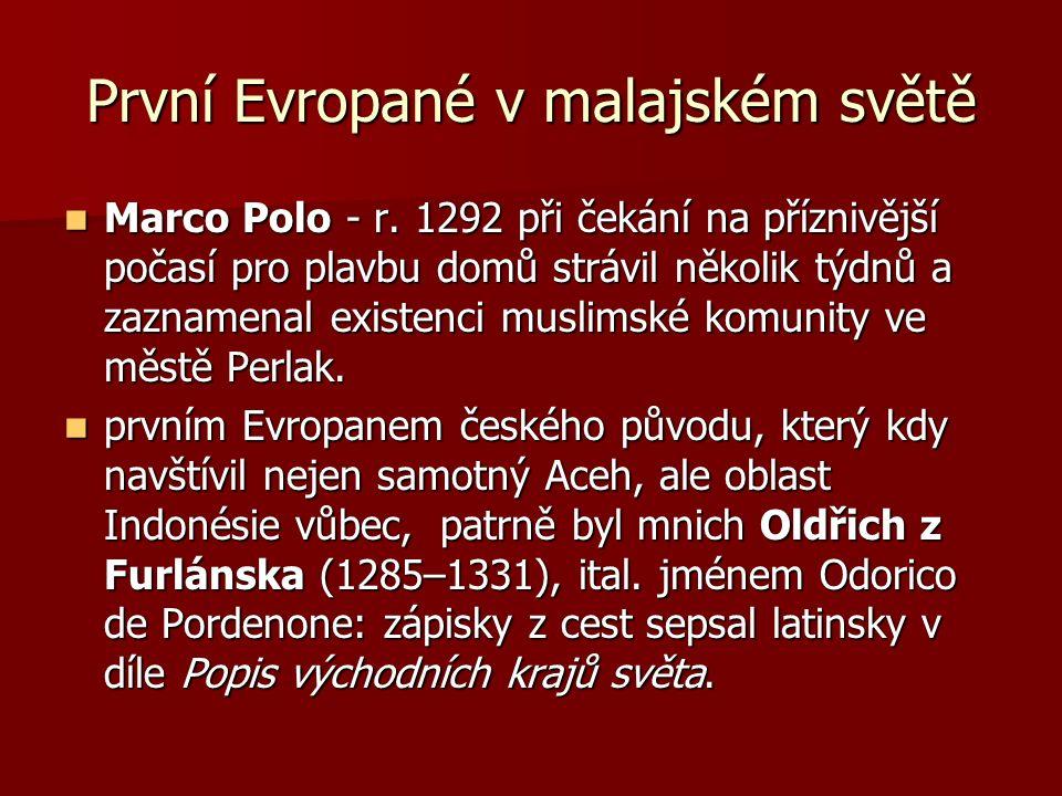 První Evropané v malajském světě Marco Polo - r.
