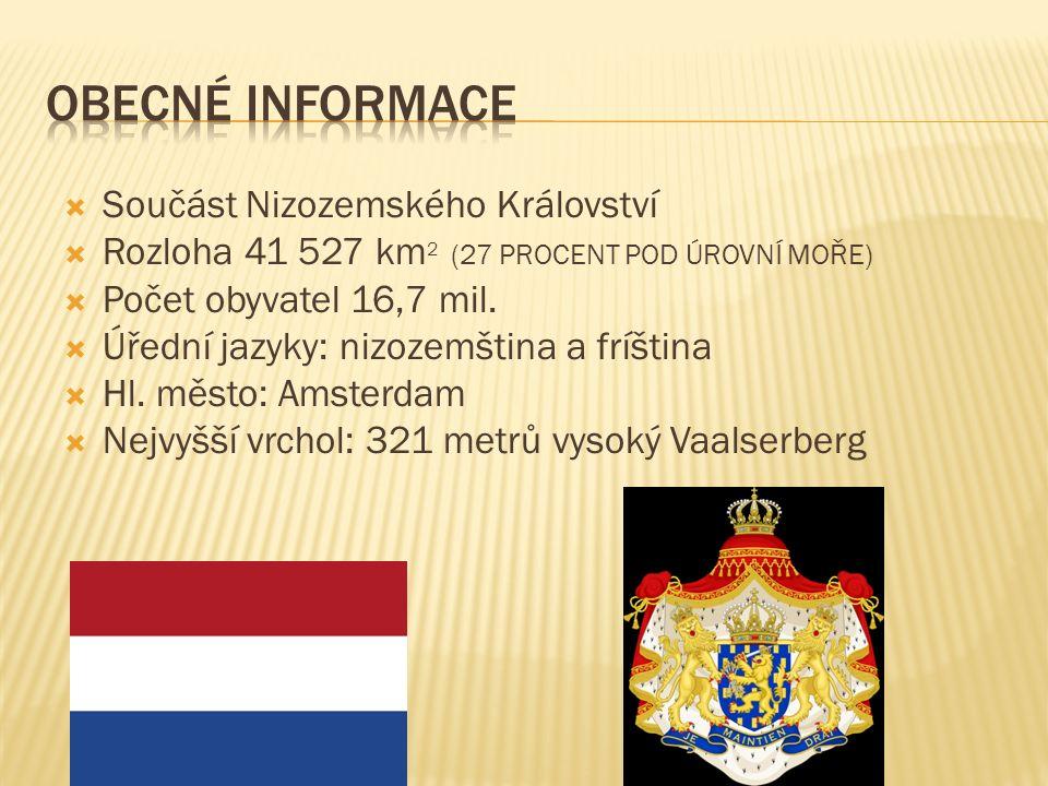  Součást Nizozemského Království  Rozloha 41 527 km 2 (27 PROCENT POD ÚROVNÍ MOŘE)  Počet obyvatel 16,7 mil.