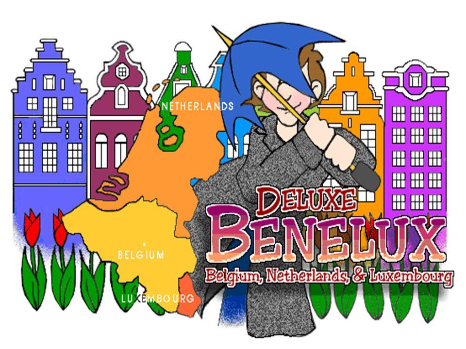 BENELUX -je označení pro volné společenství Belgie, Nizozemska a Lucemburska - Belgigue, Nederland a Luxemburg Vlajka Beneluxu