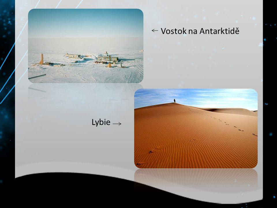 Vostok na Antarktidě Lybie
