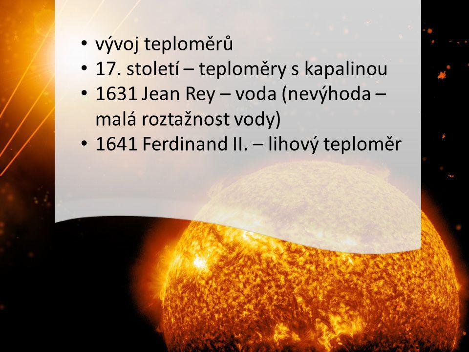 vývoj teploměrů 17.