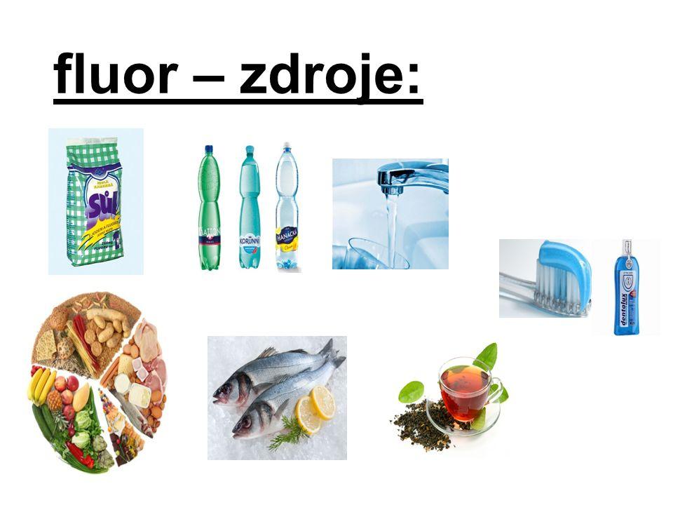 fluor – zdroje: