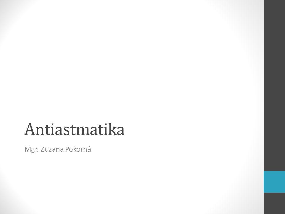 Antiastmatika Mgr. Zuzana Pokorná