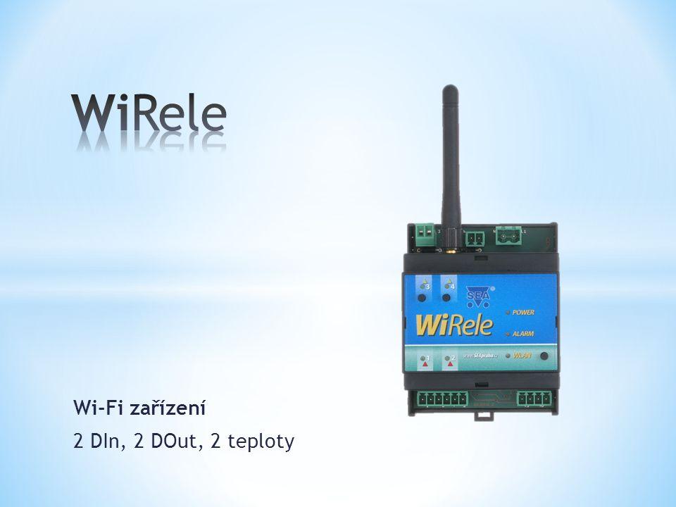 Wi-Fi zařízení 2 DIn, 2 DOut, 2 teploty