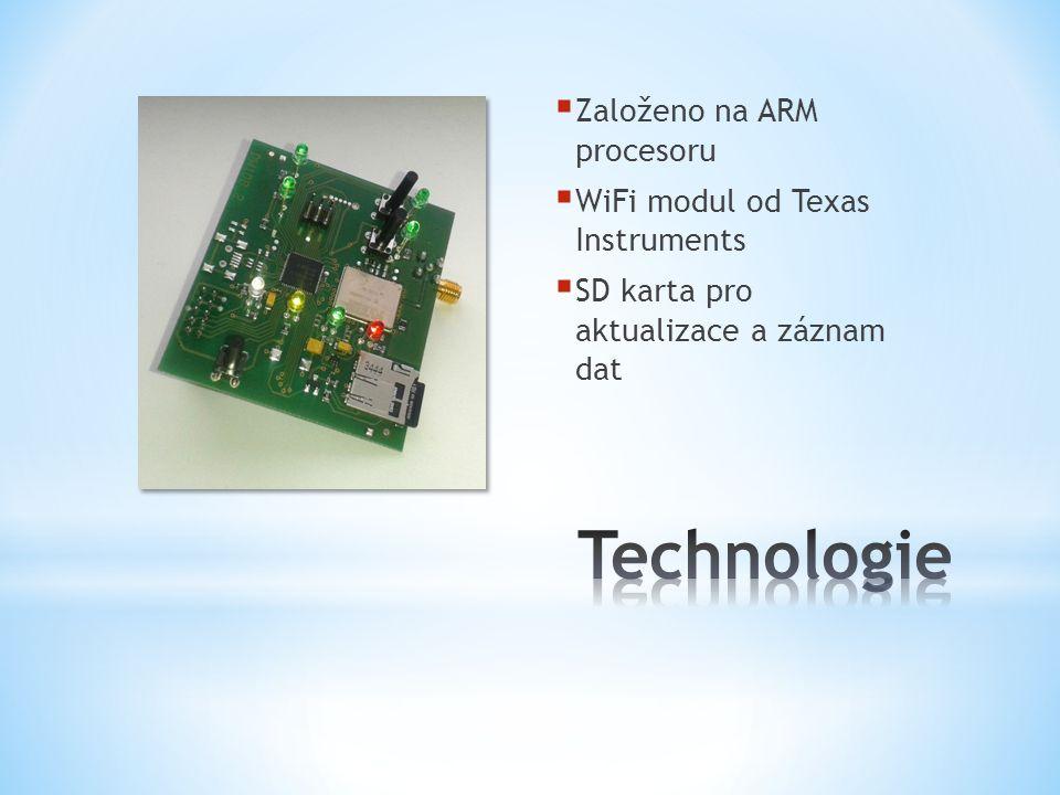  Založeno na ARM procesoru  WiFi modul od Texas Instruments  SD karta pro aktualizace a záznam dat