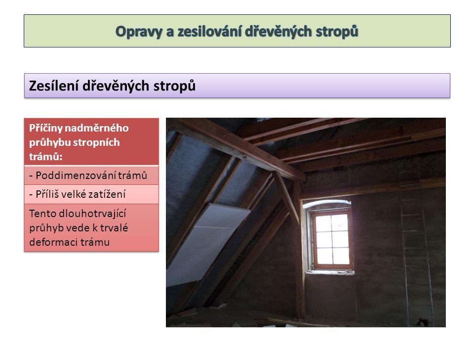 Zesílení dřevěných stropů