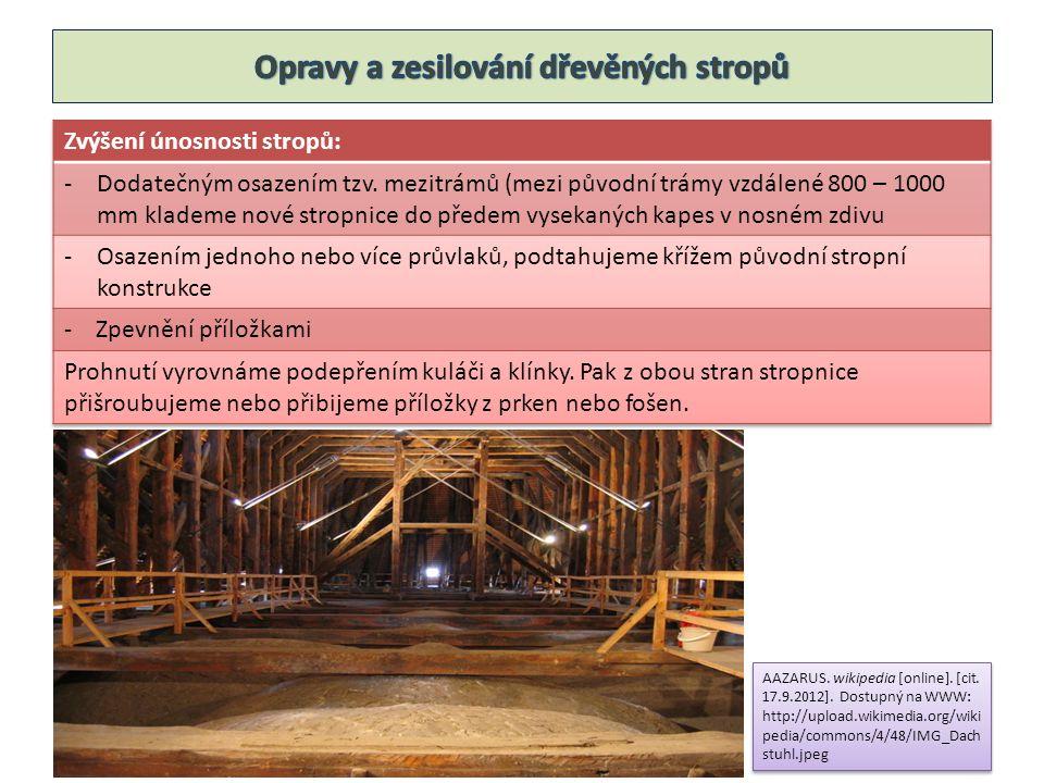 AAZARUS. wikipedia [online]. [cit. 17.9.2012]. Dostupný na WWW: http://upload.wikimedia.org/wiki pedia/commons/4/48/IMG_Dach stuhl.jpeg