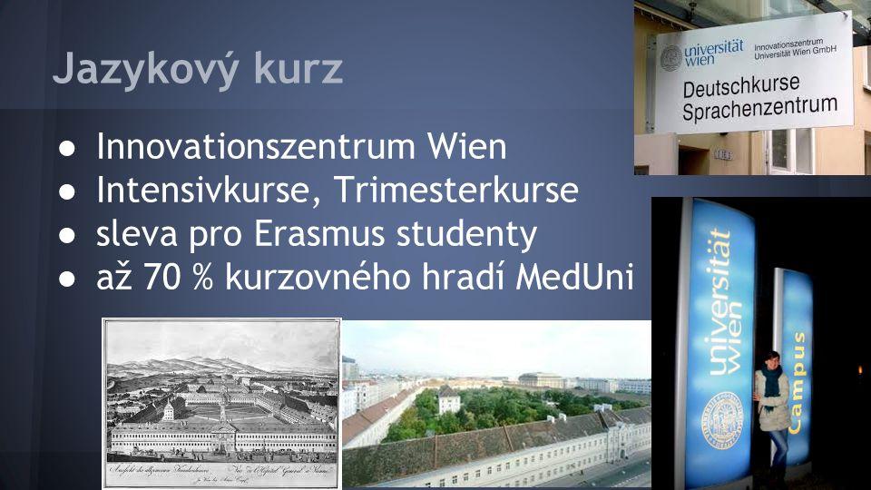 Jazykový kurz ● Innovationszentrum Wien ● Intensivkurse, Trimesterkurse ● sleva pro Erasmus studenty ● až 70 % kurzovného hradí MedUni