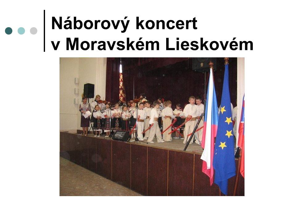 Náborový koncert v Moravském Lieskovém