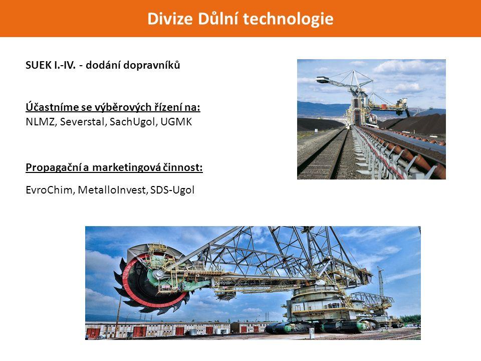 Divize Důlní technologie SUEK I.-IV.