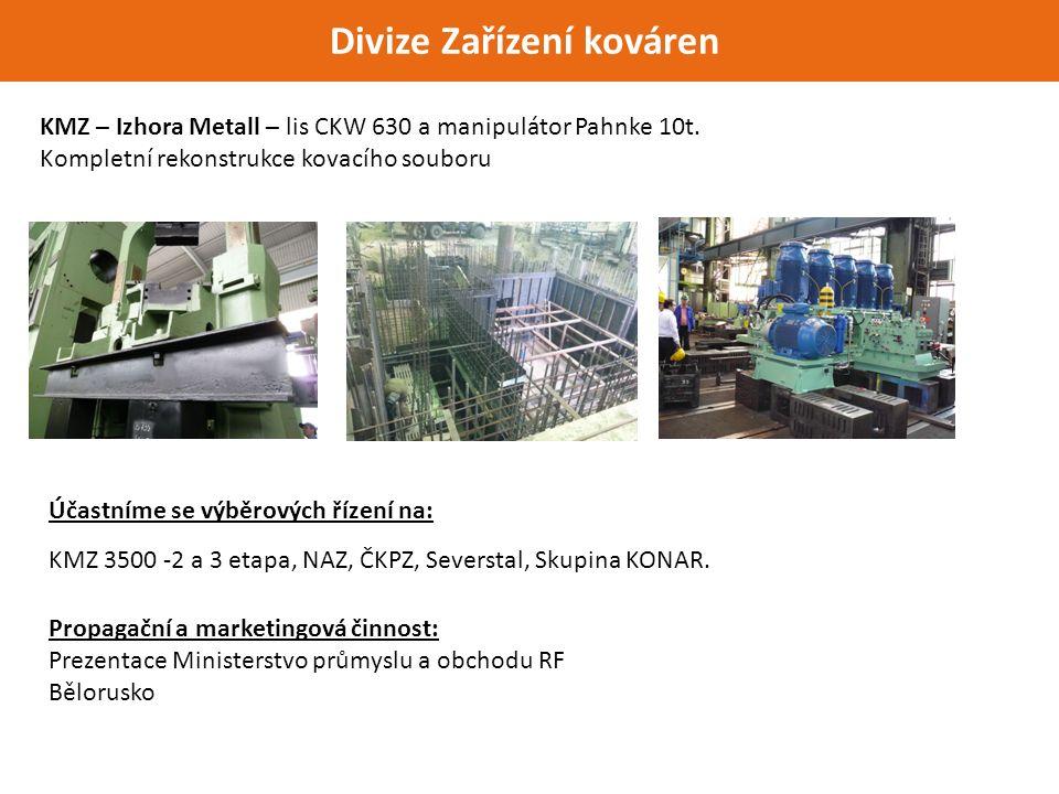 Divize Zařízení kováren KMZ – Izhora Metall – lis CKW 630 a manipulátor Pahnke 10t.