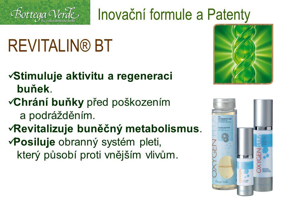 REVITALIN® BT Stimuluje aktivitu a regeneraci buňek. Chrání buňky před poškozením a podrážděním. Revitalizuje buněčný metabolismus. Posiluje obranný s