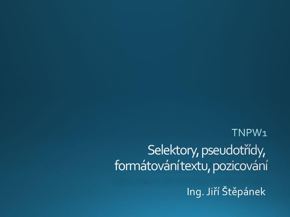 Ing. Jiří Štěpánek