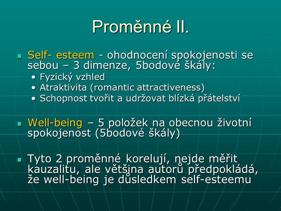 Proměnné II.