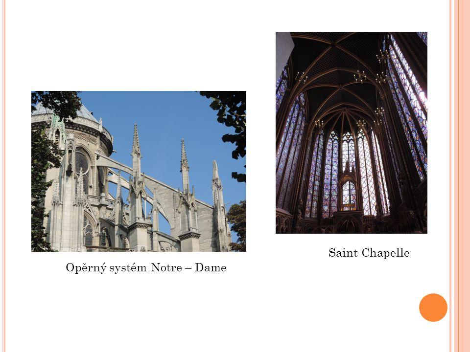 Saint Chapelle Opěrný systém Notre – Dame