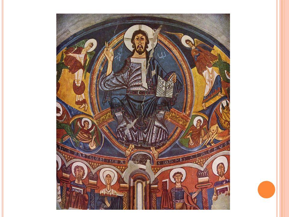 M ALÍŘSTVÍ Nástěnné a deskové malby Vyobrazení Krista v mandorle Fresky – výjevy z Bible a života světců Byly určeny prostým lidem, kteří neuměli číst