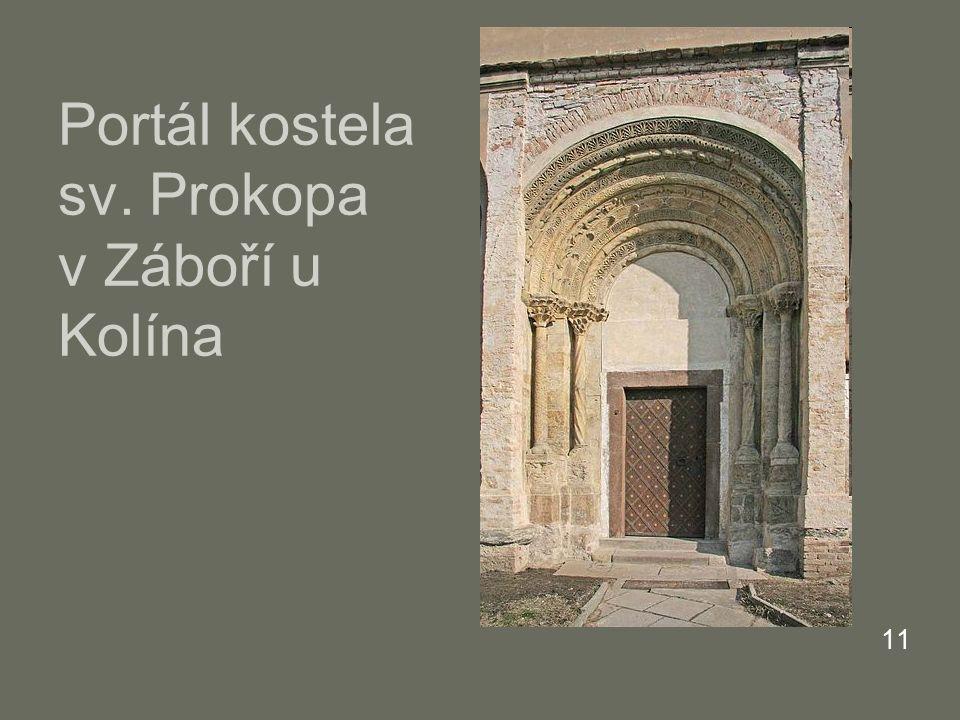 Portál kostela sv. Prokopa v Záboří u Kolína 11