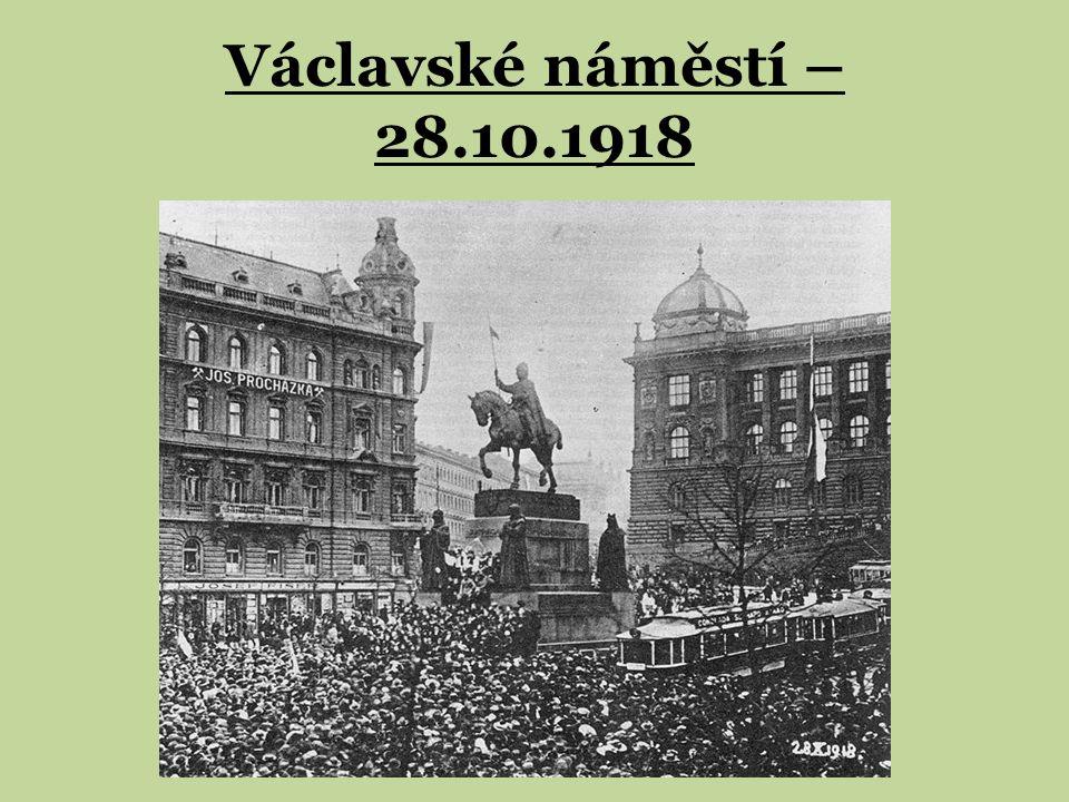 Václavské náměstí – 28.10.1918