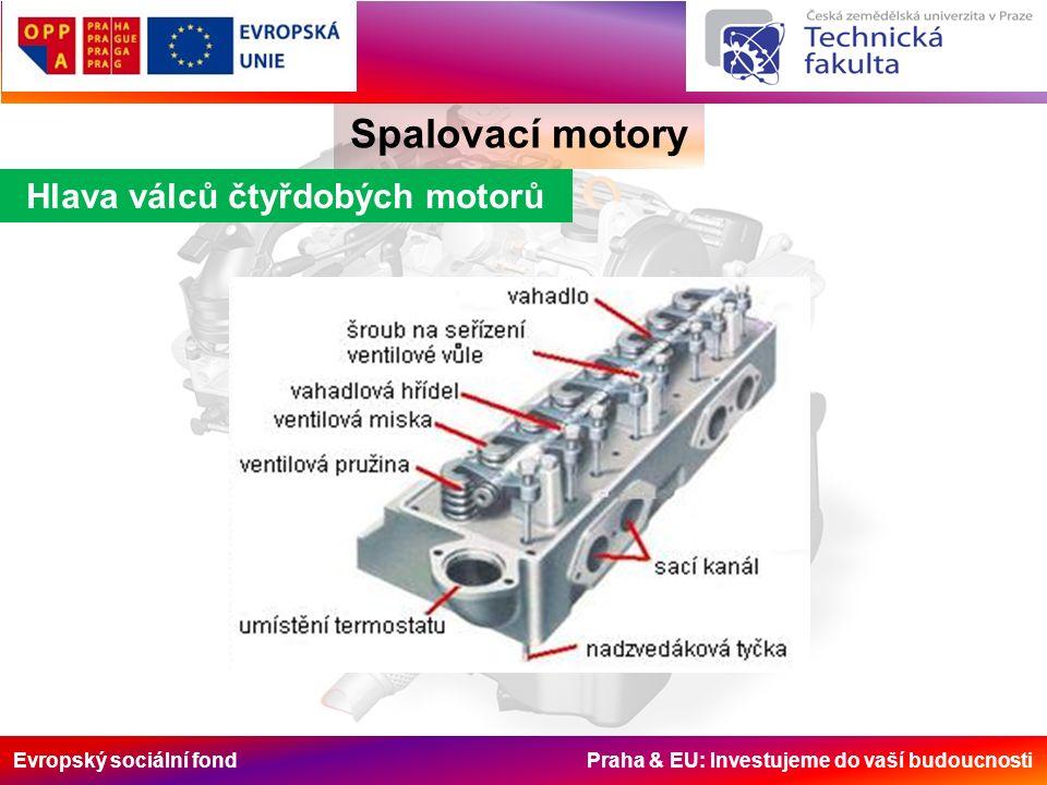 Evropský sociální fond Praha & EU: Investujeme do vaší budoucnosti Hlava válců čtyřdobých motorů Spalovací motory