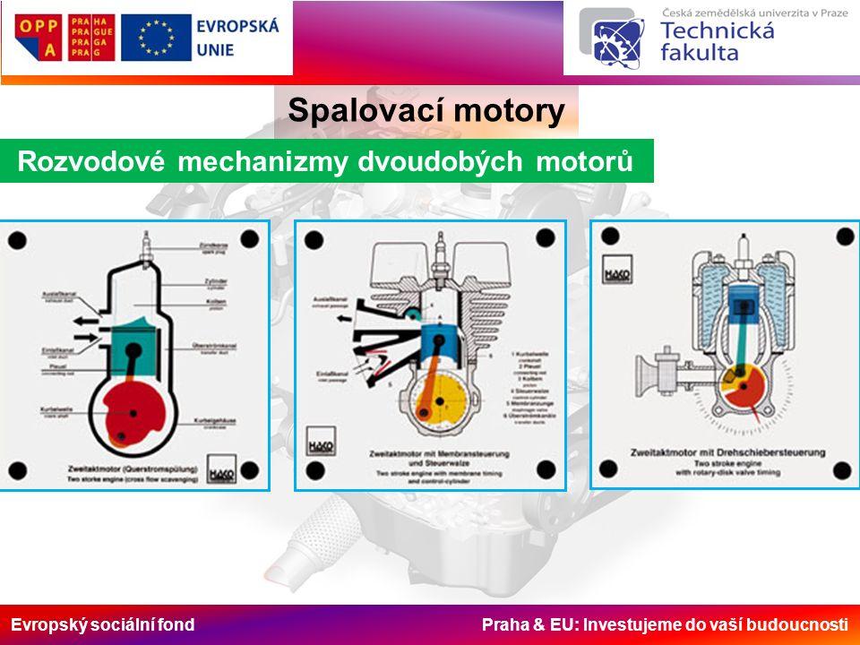 Evropský sociální fond Praha & EU: Investujeme do vaší budoucnosti Rozvodové mechanizmy dvoudobých motorů Spalovací motory