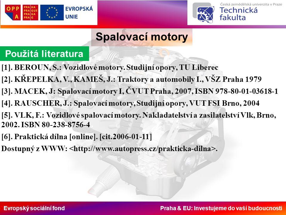 Evropský sociální fond Praha & EU: Investujeme do vaší budoucnosti Spalovací motory [1].