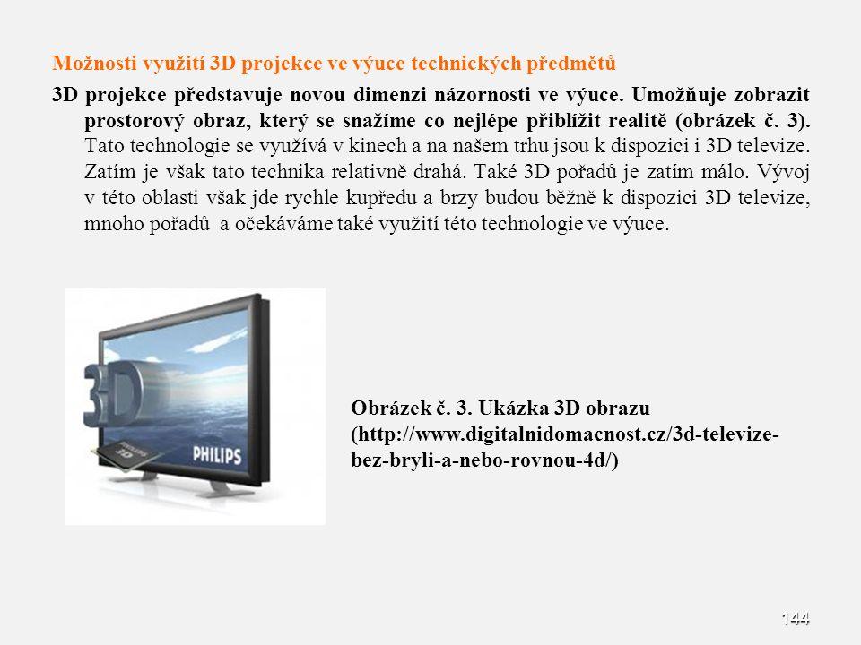 Možnosti využití 3D projekce ve výuce technických předmětů 3D projekce představuje novou dimenzi názornosti ve výuce.