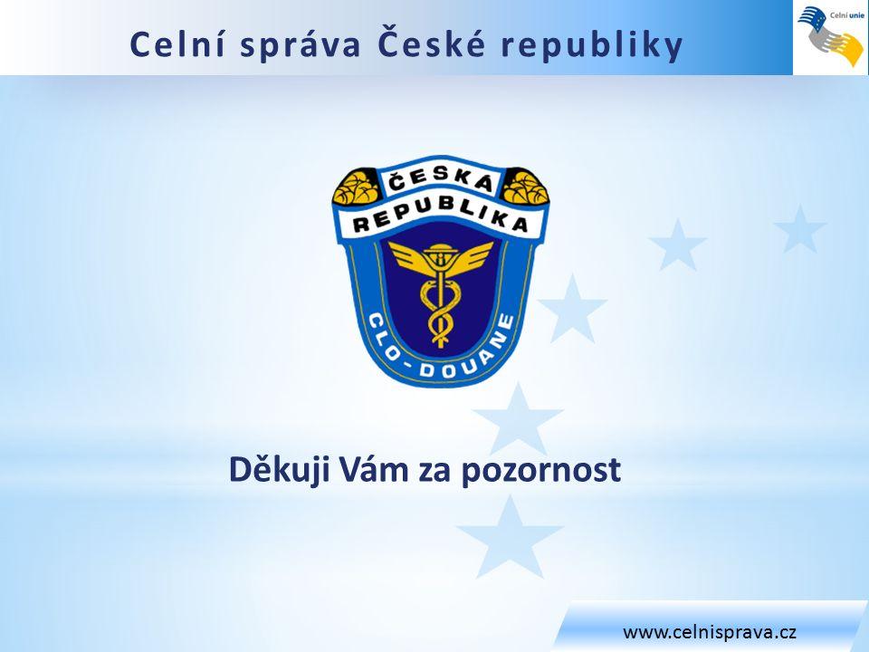 www.celnisprava.cz Děkuji Vám za pozornost Celní správa České republiky