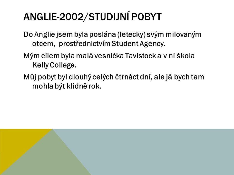 ANGLIE-2002/STUDIJNÍ POBYT Organizátory akce byli angličtí studenti této univerzity.