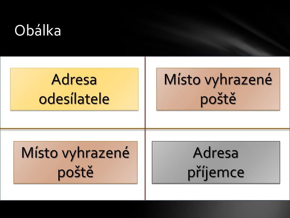 Obálka Marie Černá Mikolajice 120 747 84 MELČ Adresa odesílatele Mgr.