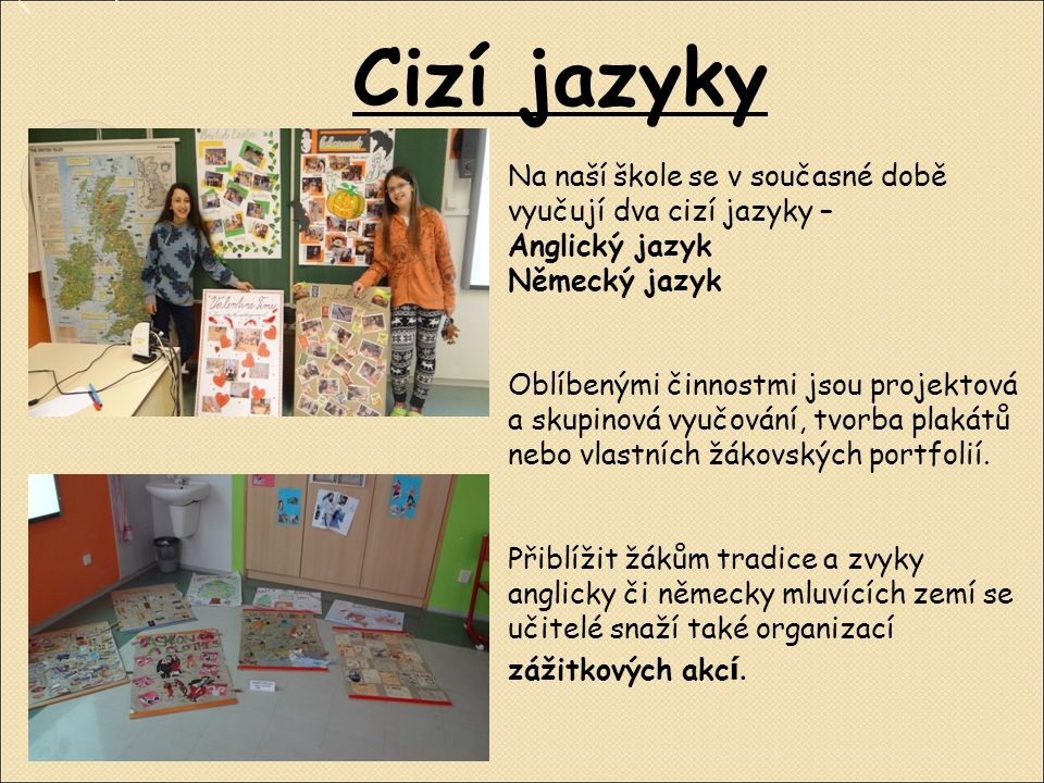 Další předměty … I k běžným školním předmětům jako jsou například Český jazyk nebo Matematika patří spousta výukových materiálů.