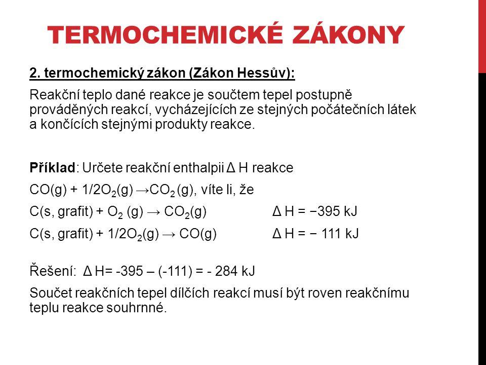 TERMOCHEMICKÉ ZÁKONY 2.