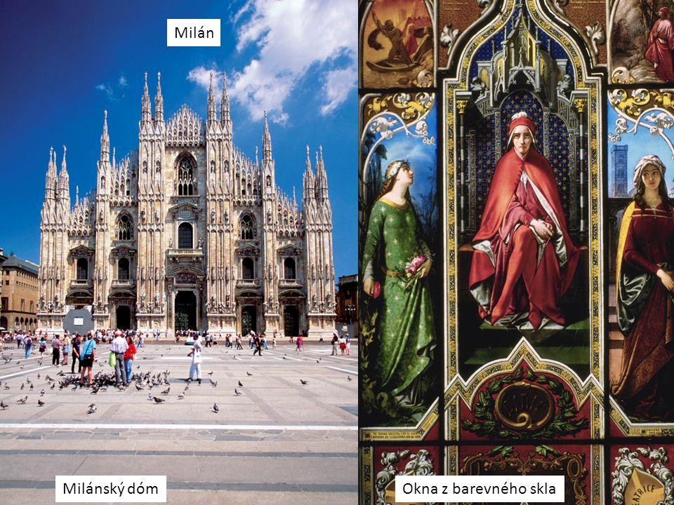 Milán Milánský dómOkna z barevného skla