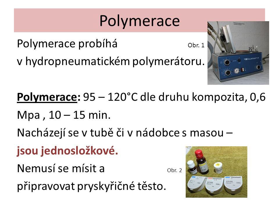 Polymerace Polymerace probíhá Obr. 1 v hydropneumatickém polymerátoru.
