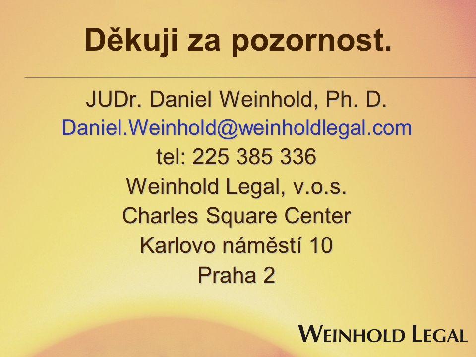 JUDr. Daniel Weinhold, Ph. D.