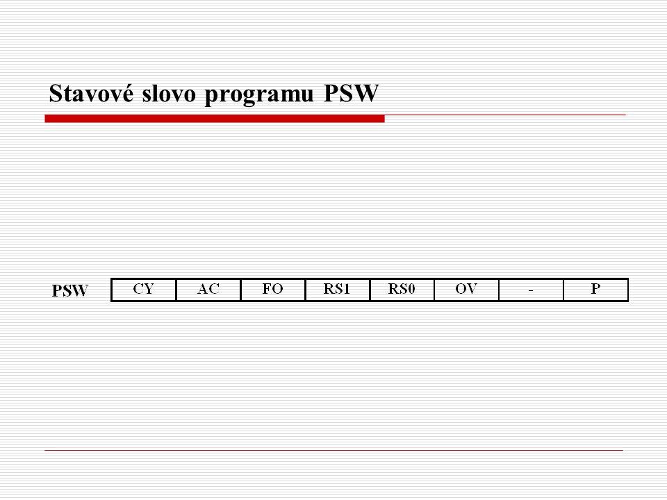 Stavové slovo programu PSW