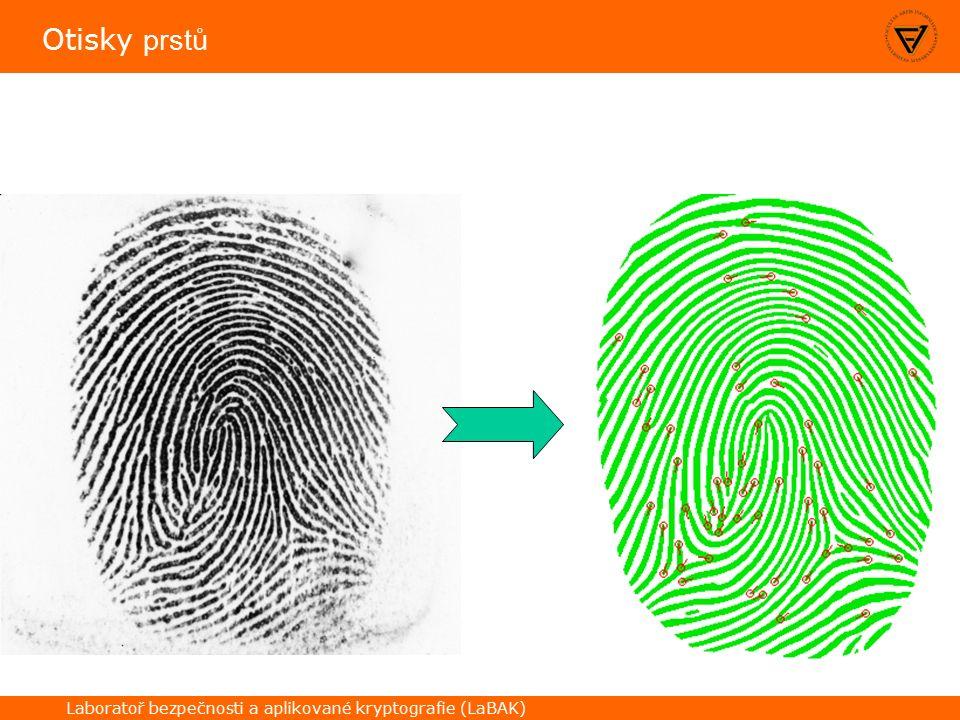Laboratoř bezpečnosti a aplikované kryptografie (LaBAK) Otisky prstů