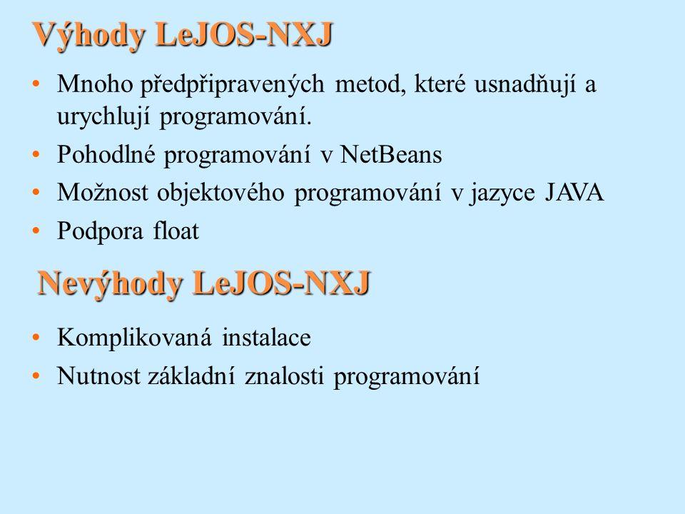 3.Nyní je potřeba stáhnout LeJOS NXJ software.