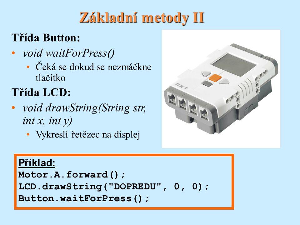 Interface Pilot, třída TachoPilot Používá se pro robota typu vozidlo.