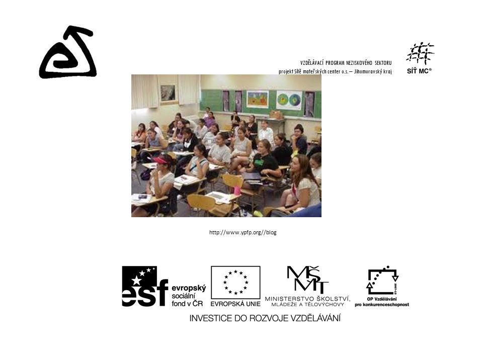 http://www.ypfp.org//blog VZDĚLÁVACÍ PROGRAM NEZISKOVÉHO SEKTORU projekt Sítě mateřských center o.s.