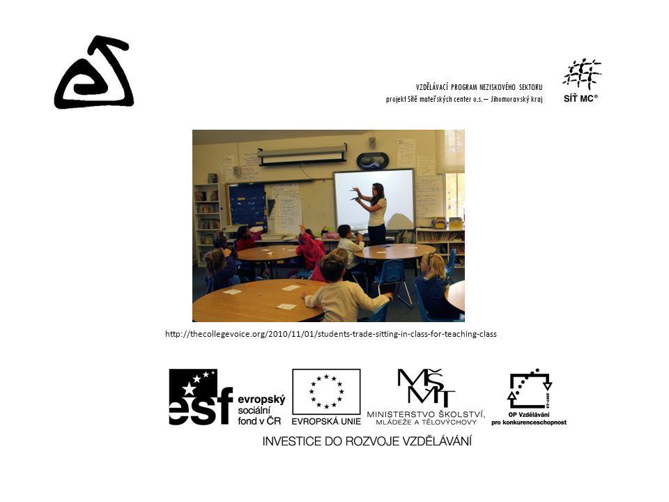 http://thecollegevoice.org/2010/11/01/students-trade-sitting-in-class-for-teaching-class VZDĚLÁVACÍ PROGRAM NEZISKOVÉHO SEKTORU projekt Sítě mateřských center o.s.