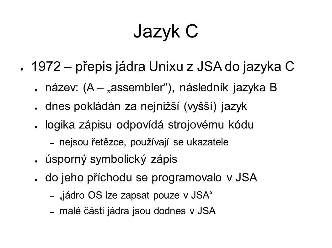 Hello world v jazyce C # include int main(void) { printf( Hello, World!\n ); return 0; }