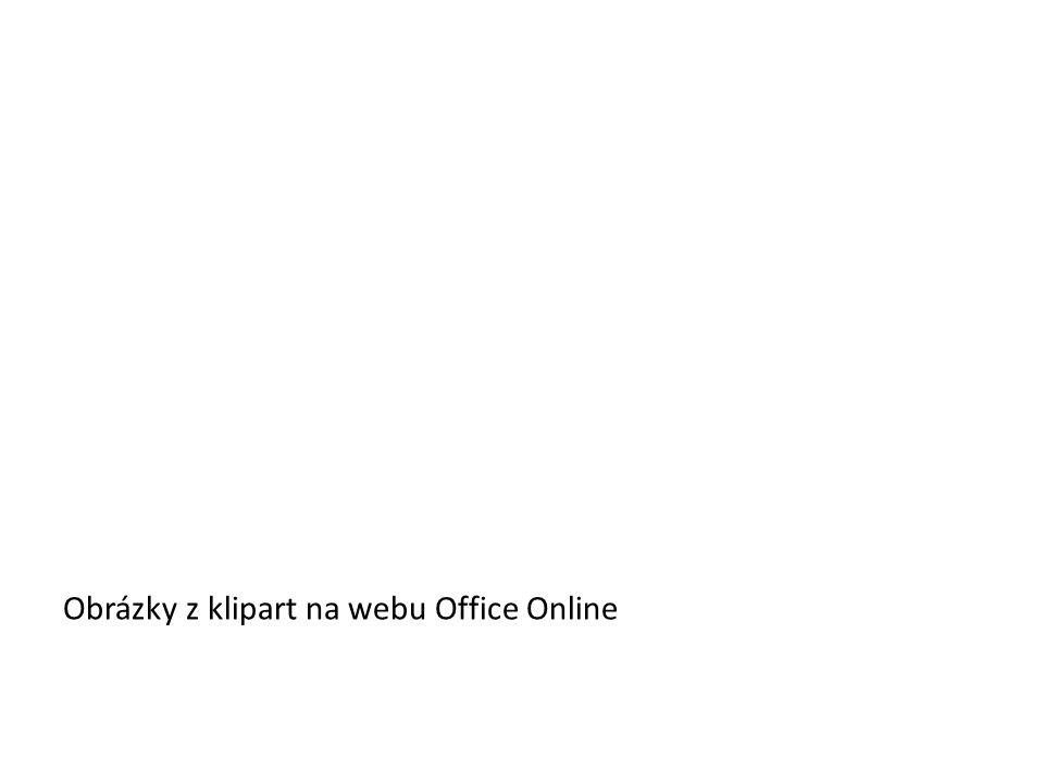Obrázky z klipart na webu Office Online